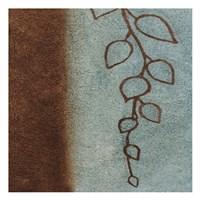 """Brown & Blue Leaves I by Kristin Emery - 13"""" x 13"""""""