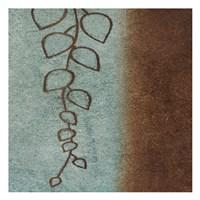 """Brown & Blue Leaves II by Kristin Emery - 13"""" x 13"""""""