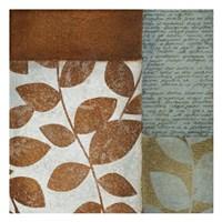 "Leaf Letter by Kristin Emery - 13"" x 13"", FulcrumGallery.com brand"