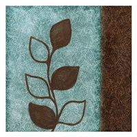 Brown Leaves Square Right Framed Print