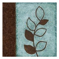 """Brown Leaves Square Left by Kristin Emery - 13"""" x 13"""""""