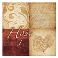 Red Gold Hope III Framed Print