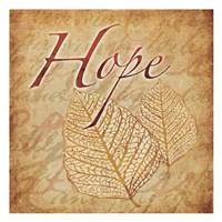 """Red Gold Hope II by Kristin Emery - 13"""" x 13"""""""