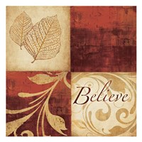 Red Gold Believe Fine Art Print