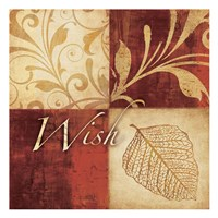 Red Gold Wish Fine Art Print