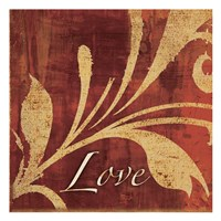 Red Gold Love Fine Art Print