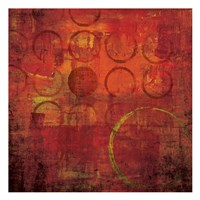 "Red Hot 1 by Kristin Emery - 13"" x 13"""