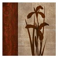 """Wine Iris 1 by Kristin Emery - 13"""" x 13"""""""