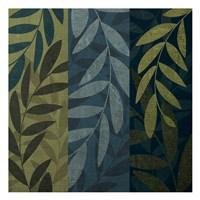 "Green Blue 3 panel Mate by Kristin Emery - 13"" x 13"", FulcrumGallery.com brand"