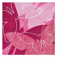Butterflys Pink Framed Print