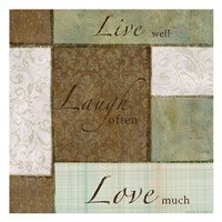 "Live-Laugh Love by Kristin Emery - 13"" x 13"""