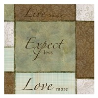 """Live Expect Love by Kristin Emery - 13"""" x 13"""""""