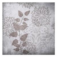 """Warm Gray Flowers 2 by Kristin Emery - 13"""" x 13"""""""