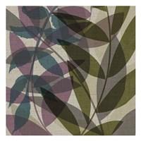 "Purple Green Leaves by Kristin Emery - 13"" x 13"""