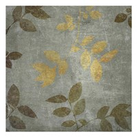 """Gold Brown Leaves by Kristin Emery - 13"""" x 13"""""""