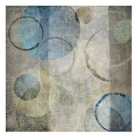 "Stone Circles Blue Mate 1 by Kristin Emery - 13"" x 13"""