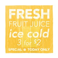 Fresh Juice Yellow Fine Art Print