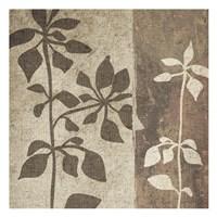 Neutral Leaves 1 Framed Print