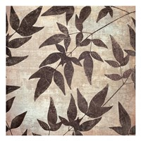 Leaves And Swirls Mate Framed Print