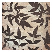 Leaves And Swirls Framed Print