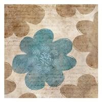 "Blue Words by Kristin Emery - 13"" x 13"""