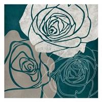 Gray Rose Framed Print
