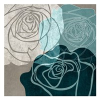 Navy Rose Fine Art Print