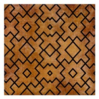Black on Brown Pattern Fine Art Print