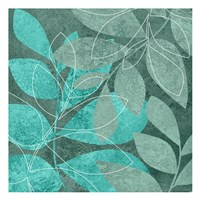 Seafoam Leaves 2 Fine Art Print
