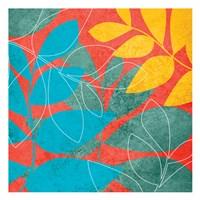 """Tango Leaves 1 by Kristin Emery - 13"""" x 13"""""""