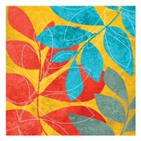 """Tango Leaves 2 by Kristin Emery - 13"""" x 13"""""""