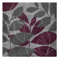 "Grey Purple Leaves 1 by Kristin Emery - 13"" x 13"", FulcrumGallery.com brand"