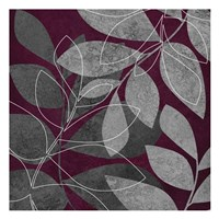 "Grey Purple Leaves 2 by Kristin Emery - 13"" x 13"", FulcrumGallery.com brand"