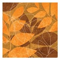 Orange Leaves 1 Fine Art Print