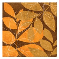 Orange Leaves 2 Fine Art Print