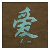 """Love in Aqua by Kristin Emery - 13"""" x 13"""""""