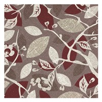 "Burgundy Gray Fall D by Kristin Emery - 13"" x 13"""