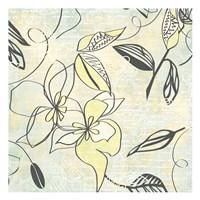 "Yellow Writing On Flower by Kristin Emery - 13"" x 13"""