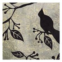 """Birds & Leaves B&G 2 by Kristin Emery - 13"""" x 13"""""""