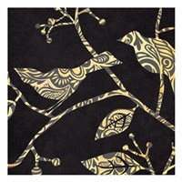 """Birds & Leaves B&G  4 by Kristin Emery - 13"""" x 13"""""""