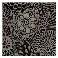 """Stencil Floral by Kristin Emery - 13"""" x 13"""""""