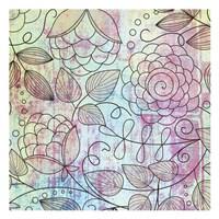 "Shabby Floral A by Kristin Emery - 13"" x 13"""