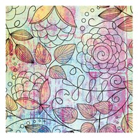 "Shabby Floral A Bright by Kristin Emery - 13"" x 13"""