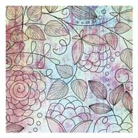 """Shabby Floral B by Kristin Emery - 13"""" x 13"""""""