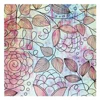 """Shabby Floral B Bright by Kristin Emery - 13"""" x 13"""""""