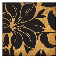 Black and Gold Flora 1 Fine Art Print