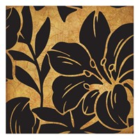 Black and Gold Flora 2 Fine Art Print