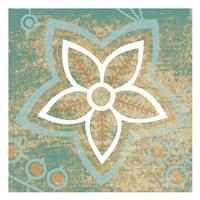"Retro Flower 3 by Kristin Emery - 13"" x 13"""