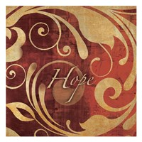 Red Gold Hope V Fine Art Print