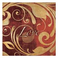 Red Gold Love Fine Art Print